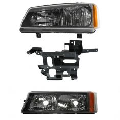 03-04 Chevy Truck SUV Front Lighting Kit LH (3 Piece)