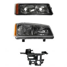 03-04 Chevy Truck SUV Front Lighting Kit RH (3 Piece)
