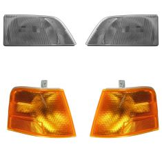 96-03 Volvo VNL, VNM Series; 03-11 VNL 300, VNM 200 Hdeadlight & Marker Lamp Kit
