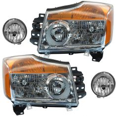 08-15 Nissan Titan Front Lighting Kit (4 Piece)