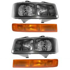 2003-17  Express Savana Van Front Lighting Kit (4 Piece)