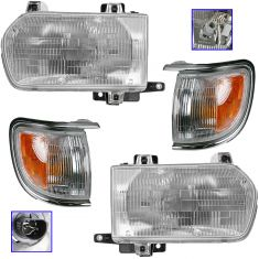 96-99 Nissan Pathfinder Front Lighting Kit Chrome (4 Piece)
