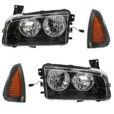 08-10 Dodge Charger Front Lighting Kit (4 Piece)