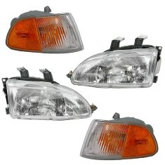 92-95 Honda Civic Coupe/Hatchback Front Lighting Kit (4 Piece)