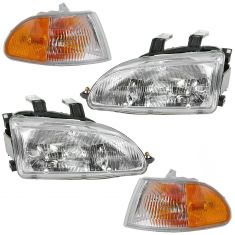 92-95 Honda Civic Sedan Front Lighting Kit (4 Piece)