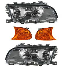 00-01 BMW 3 Series Front Lighting Kit Amber (4 Piece)