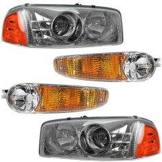 01-07 Sierra; 01-06 Yukon Denali Front Lighting Kit (4 Piece)