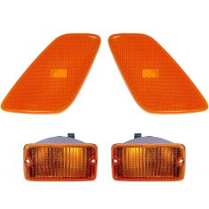 97-00  Jeep Wrangler Side Marker Lights & Parking Light (4 Piece)