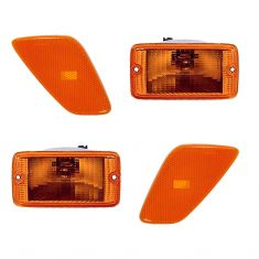 01-06 Jeep Wrangler Side Marker Lights & Parking Light (4 Piece)