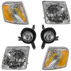 01-03 Ford Explorer Sport; 01-05 Explorer Sport Trac Front Lighting Kit (6 Piece)