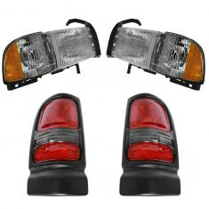 94-02 Dodge Ram Truck Front & Rear Lighting Kit (4 Piece)