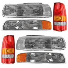 99-02 Chevy Silverado Front & Rear Lighting Kit (6 Piece)