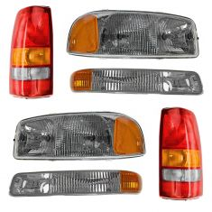 99-03 GMC Sierra Pickup Front & Rear Lighting Kit (6 Piece)