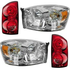 06-09 Dodge Ram Truck Front & Rear Lighting Kit (4 piece)