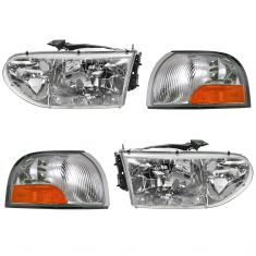 99-00 Nissan Quest; Mercury Villager Front Lighting Kit (4 Piece)