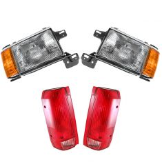 90-91 Ford Truck Bronco Front & Rear Lighting Kit (4 piece)