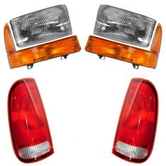 99-00 Ford F250 F350 Front & Rear Lighting Kit (6 Piece)
