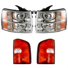 07-14 Chevy Silverado Pickup Front & Rear Lighting Kit (4 Piece)