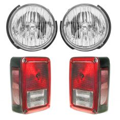 07-17 Jeep Wrangler Front & Rear Lighting kit (4 Piece)