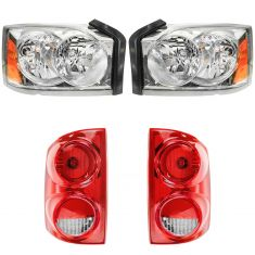 05-07 Dodge Dakota Front & Rear Lighting Kit (4 Piece)