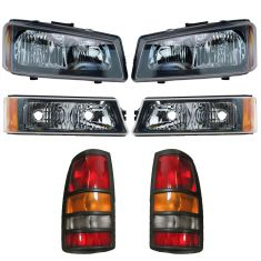 03 Chevy Silverado 3500 Front & Rear Lighting Kit (6 Piece)