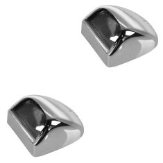 99-05 Silverado, Sierra 1500, 2500, 3500 w/Rear Chrome Step Bmp Lic Pl Light Lens & Hsg Pair (GM)