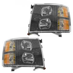 07 Silverado 1500-3500 (New Body); 08-11 Silverado 1500-3500 Black Bezel Performance Headlight PAIR