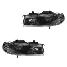 92-96 Honda Prelude Black Bezel Performance Projector Style Headlight PAIR