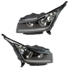 11-14 Chevy Cruze Performance Black Bezel Projector Headlight Pair