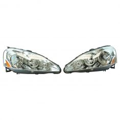05-06 Acura RSX Performance Chrome Bezel Headlight PAIR