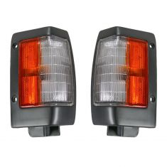 90-97 Nissan PU Truck Corner Light Blk Pair