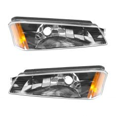 2002-04 Chevy Avalanche Parking Light Pair With body clad