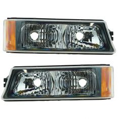 2002-07 Chevy Avalanche Park Lamp Turn Signal Pair