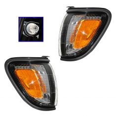 2001-04 Toyota Tacoma Turn Signal Light Pair with Gray Trim