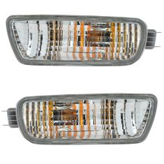 01-04 Toyota Tacoma Signal Light Bumper Mounted Pair
