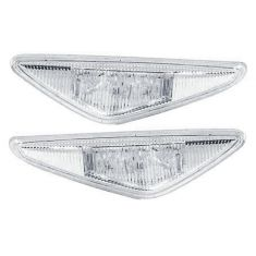 3/03-06 BMW 325i 330i Cpe & Conv Side Repeater Light w/ Clear Lens PAIR