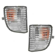 01-03 Toyota Rav4 (w/o Fog Lights) Parking Turn Signal Light (Bumper Mtd) PAIR