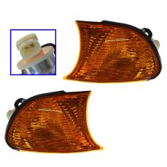 02-03 BMW 3 Series Cpe & Conv; 02-06 M3 Parking Turn Signal Light (fender mtd) w/Yellow Lens PAIR