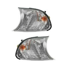 02-03 BMW 3 Series Cpe & Conv; 02-06 M3 Parking Turn Signal Light (fender mtd) w/Clear Lens PAIR