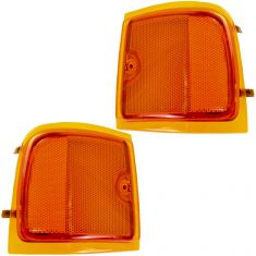 96-02 GMC Savana Van (w/Composite HL) Upper Side Marker Light (Grille Mtd) PAIR