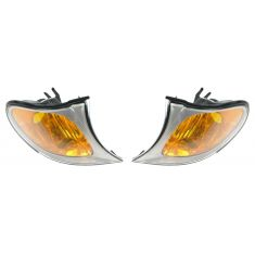 2002-05 BMW 3 Series Sedan & SW Corner Light w/Chrome Trim PAIR