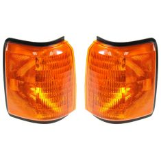 1987-91 Ford Bronco, F150-F350; 88-91 F450 Corner Parking Light w/o Chrome Trim PAIR