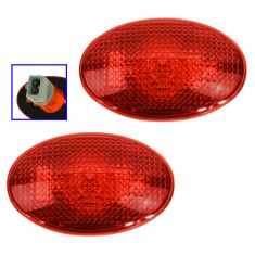 99-10 F350SD w/DRW, F450SD Rear Fender Mounted Rear Red Side Marker Light Assy PAIR (Ford)