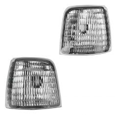 92-96 Ford Bronco, F150; 92-97 F250, F350 Headlight Mtd Side Marker Light Pair (Ford)