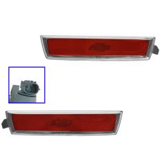 08-10 Chevy Malibu Hybrid; 08-12 Malibu Rear Side Marker Light Red Lense & Housing Pair (GM)