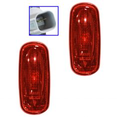 03-09 Dodge Ram 3500 w/DRW Rear Fndr Mounted Rearward Red Side Marker Light Assembly PAIR (Mopar)