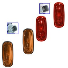 03-09 Dodge Ram 3500 w/DRW Rear Fender Forward Red & Amber Side Marker Light Kit (Set of 4)(Mopar)