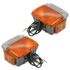 75-77 (to 9-77) Toyota FJ40 Land Cruiser Fender Mounted Turn Signal Light Assembly PAIR (Toyota)
