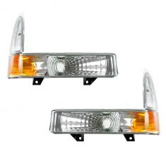 00-04 Excursion; 99-04 F250-F350SD; 99-03 F450-F550SD Diamond Style Corner Parking Light PAIR