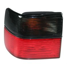 1993-99 VW Volkswagen Jetta Red & Smoked Qtr Mnt Tail Light LH